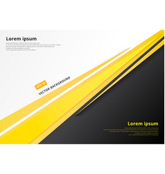 template corporate concept yellow black grey and vector image vector image