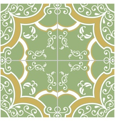 Green and yellow tile vector