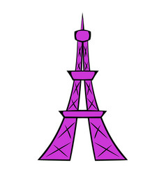 Eiffel tower icon cartoon vector