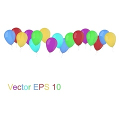 Party balloons isolated on whi vector