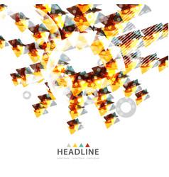 Brochure header layout vector