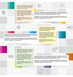 Field of gray and color squares vector