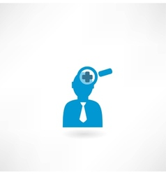 man with a magnifier vector image