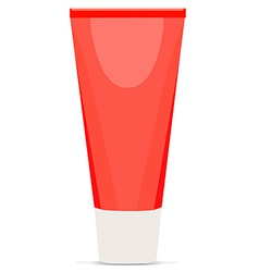 Cream tube red vector image