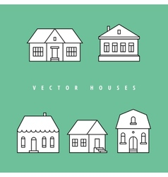 Houses set isolated elements for design vector