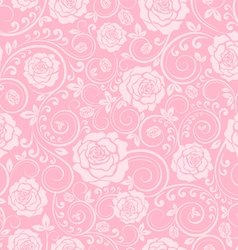 Pink ornament of roses vector