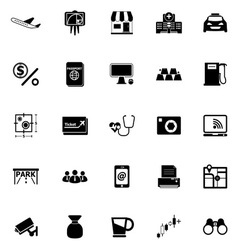 Application icons on white background vector