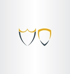 Two abstract stylized shield icons vector