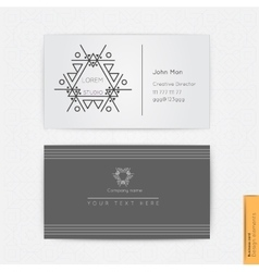Modern simple business card vector