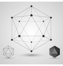 Frame volumetric geometric shapes with edges and vector