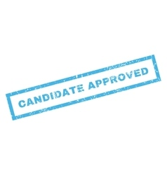 Candidate approved rubber stamp vector