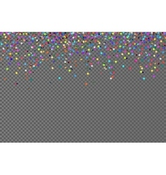 falling confetti horizontal seamless vector image vector image