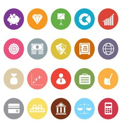 Finance flat icons on white background vector image