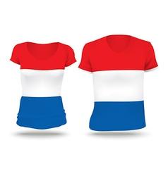 Flag shirt design of Netherlands vector image
