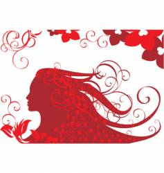 floral women background vector image