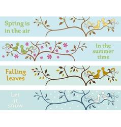 Four seasonal banners vector image