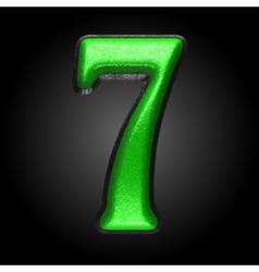 Green plastic figure 7 vector