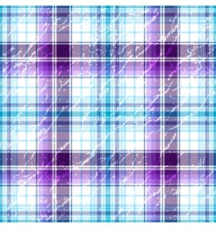 grunge checkered pattern vector image vector image