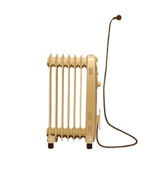 Heater with wire and socket isolated on white vector image vector image