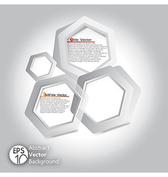 Hexagon infographic template vector
