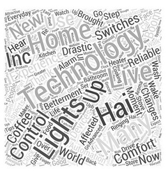 Home automation by off word cloud concept vector
