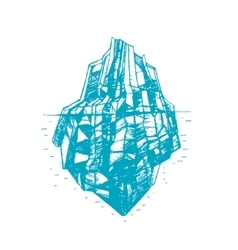 Iceberg hand draw sketch vector