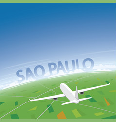 Sao paulo flight destination vector