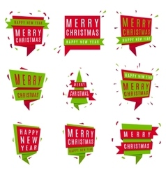 Set of Christmas and New Year banners vector image
