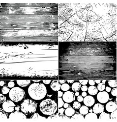 Set of wood texture background grunge vector