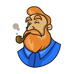 Smoking A Pipe vector image