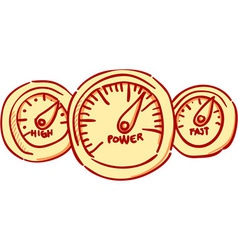 Speedometer dashboard vector