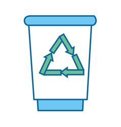 trash bucket icon vector image