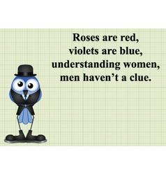 Understanding women poem vector