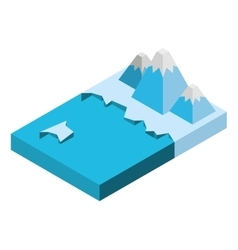 Water isometric isolated icon vector
