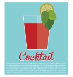 Cocktail bloddy mary traditional icon vector