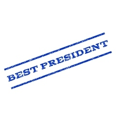 Best president watermark stamp vector