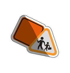 Warning sign traffic caution vector
