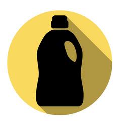 plastic bottle for cleaning  flat black vector image