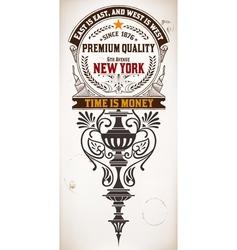 Premium quality card baroque ornaments vector