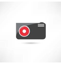 Little black camera icon vector image