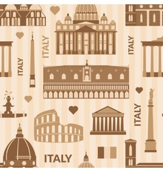 Landmarks of italy seamless pattern vector
