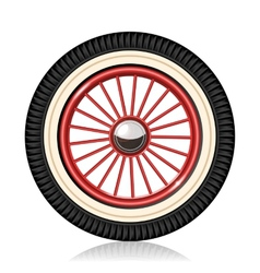 Retro car wheel vector