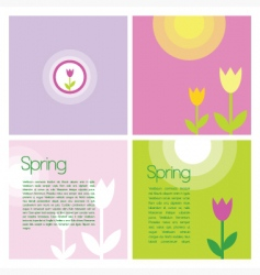 spring backkground vector image