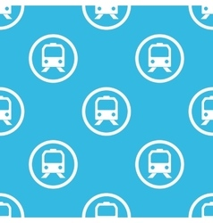 Train sign blue pattern vector