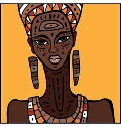African woman portrait vector