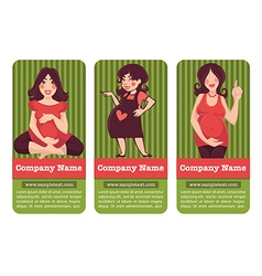 mother banners vector image