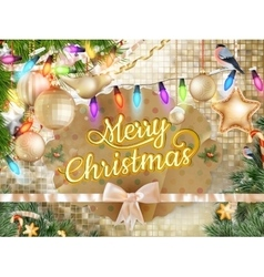 Christmas background decoration eps 10 vector