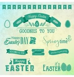 Happy easter labels set vector