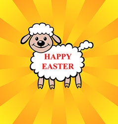 Lamb easter vector