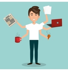 Busy person design vector